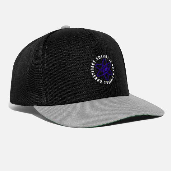Chemistry Caps & Hats - Science is not a liberal conspiracy - Snapback Cap black/grey