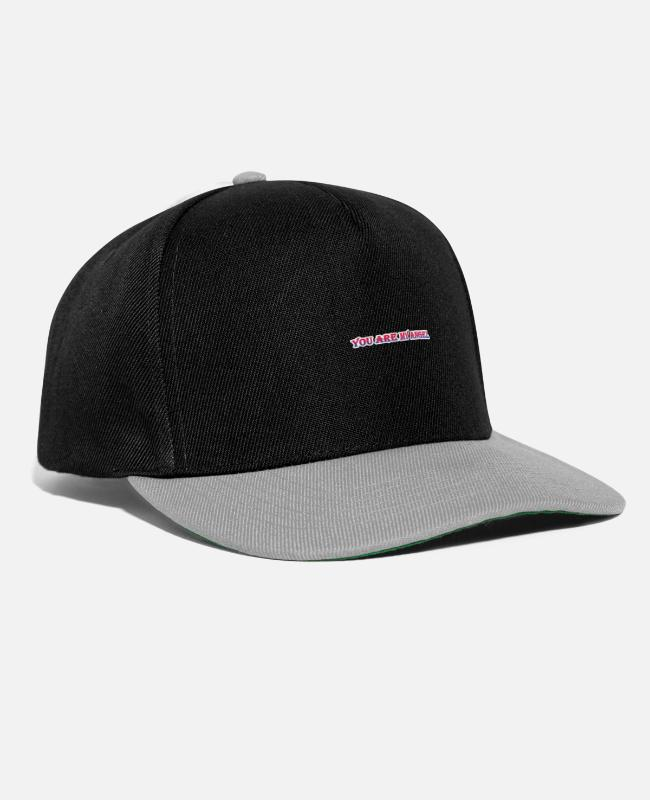 Heart Caps & Hats - You are my angel. - Snapback Cap black/grey