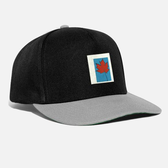 Red Caps & Hats - maple leaf - Snapback Cap black/grey