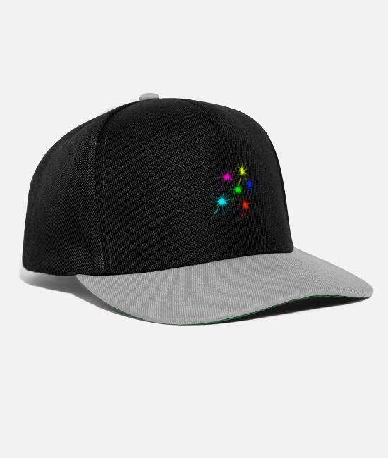 Techno Music Caps & Hats - color blob colorful techno rave - Snapback Cap black/grey