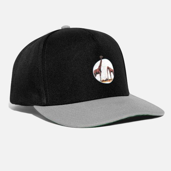 Let Go Caps & Hats - The emotional giraffe - Snapback Cap black/grey