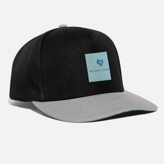 Blau Caps & Mützen - Michael Williams - Snapback Cap Schwarz/Grau