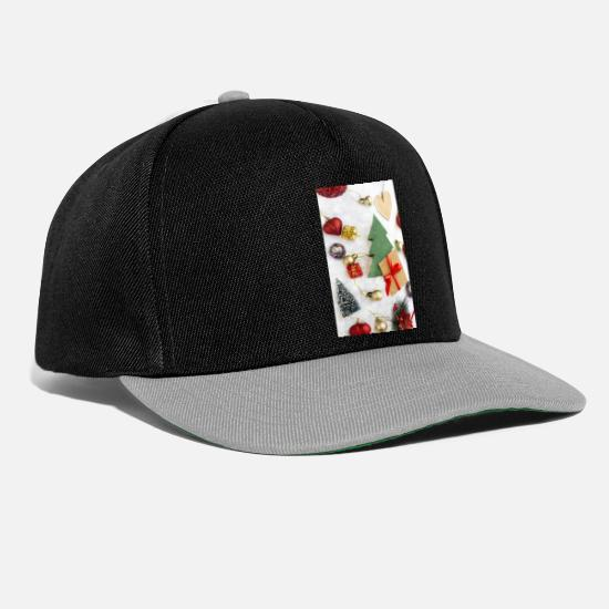 Decoration Caps & Hats - christmas collage 1 - Snapback Cap black/grey