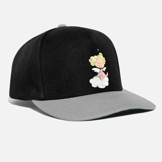 Ala Cappelli & Berretti - Little Angel on Cloud - Cappello snapback nero/grigio