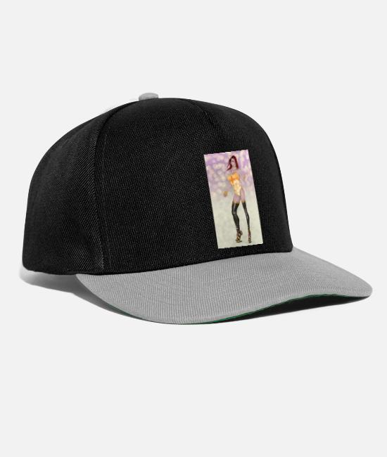 Attractive Caps & Hats - Sexy woman with practical jokes - Snapback Cap black/grey