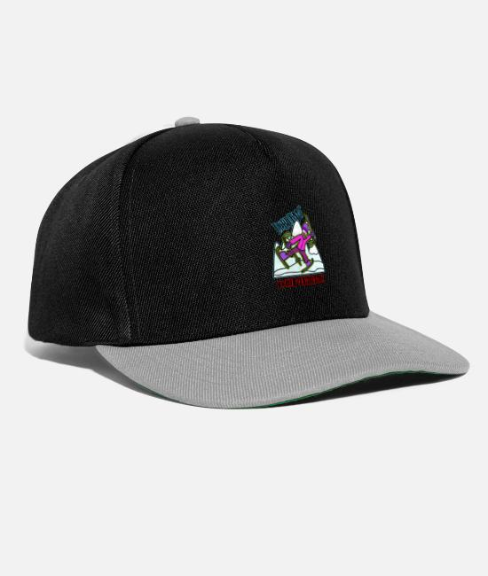Mountains Caps & Hats - novice ski confirmed - Snapback Cap black/grey
