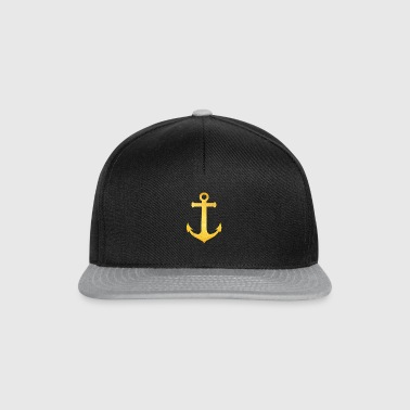 Cool Hipster Anchor (Golden Beach / beach - style) - Snapback-caps