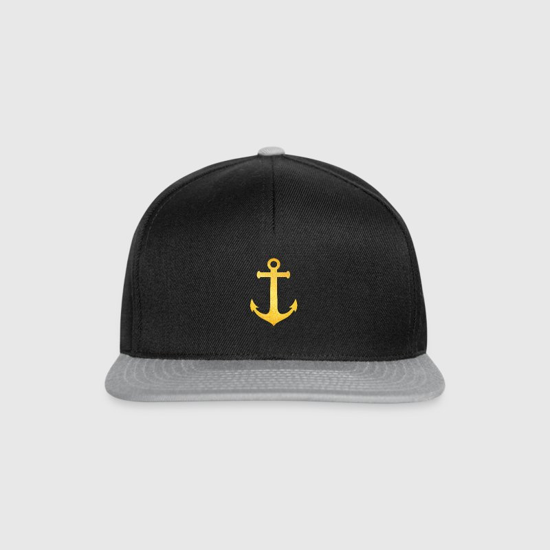 Cool Hipster Anchor (Golden Beach / beach - style) - Snapback Cap