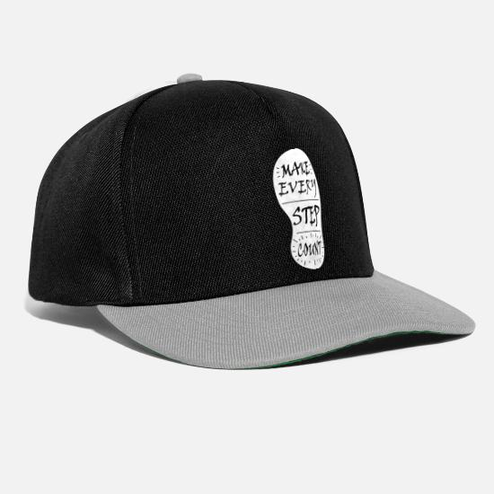 Joggen Caps & Mützen - make every step count - Snapback Cap Schwarz/Grau