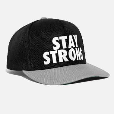 STAY STRONG (white) - Snapback Cap