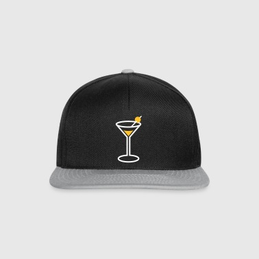 Martini Cocktail Glass - Snapback Cap