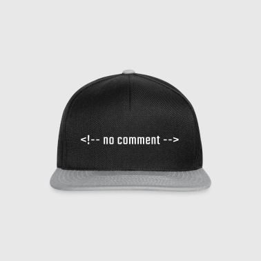 No comment - HTML lowercase - Snapback Cap