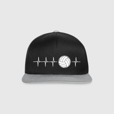 I love volleyball (volleyball heartbeat) - Snapback Cap