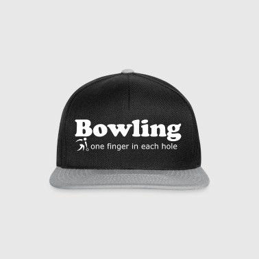 Bowling one finger in each hole Geschenkidee - Snapback Cap