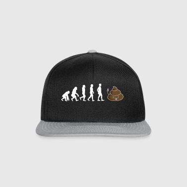 Gift shirt poop evolution - Snapback Cap
