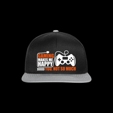 Gaming makes me happy Video game lover - Snapback Cap