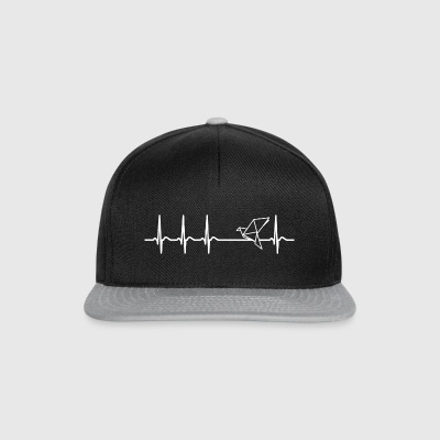 Heartbeat origami papir kunst fred Cool - Snapback-caps