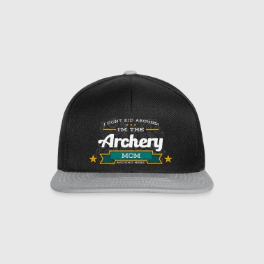 Archery Mom Mom Shirt Gift Idea - Snapback Cap