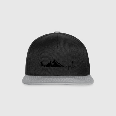 Heart beat mountain bike2 - Snapback Cap