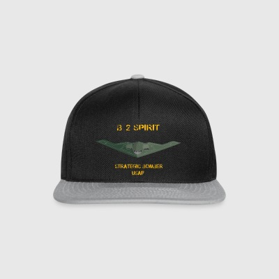 T-shirt_b-2_stealth_-Converted- - Snapback Cap