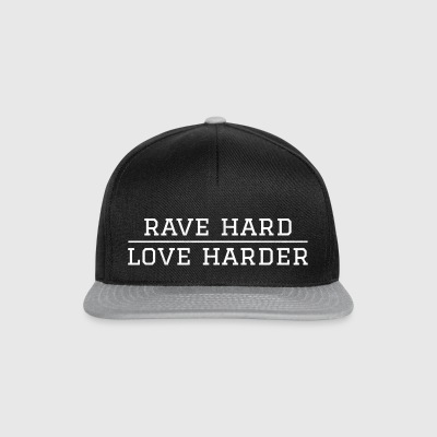 Rave hard - love harder festival - Snapback Cap