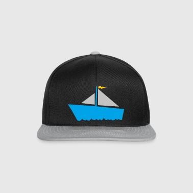 paddle boat sail boat rowing boat sailboat53 - Snapback Cap
