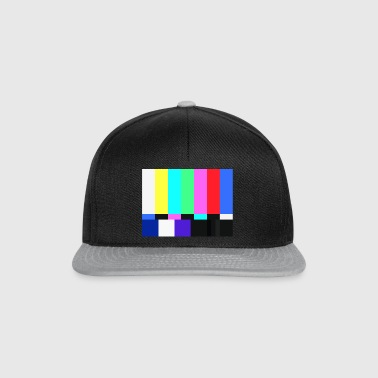 Test Card.Test Pattern. Retro Television Crew.SALE - Snapback Cap