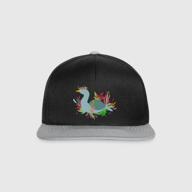 Goose in the flowerbed - Snapback Cap