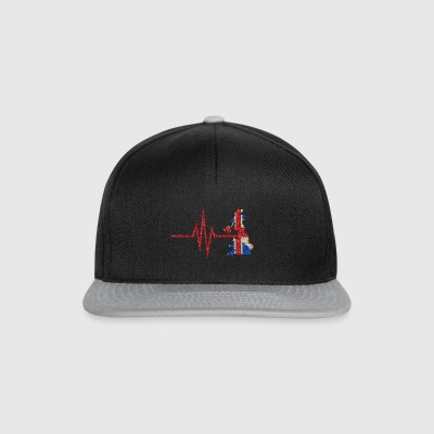 My heart beats for the UK - home country - Snapback Cap