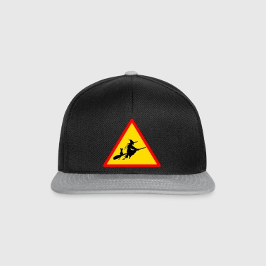 Road sign witch - Snapback Cap