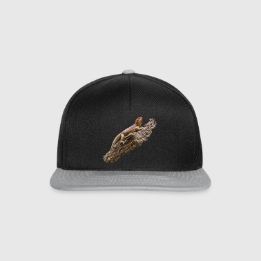 Bearded dragon on root - Snapback Cap