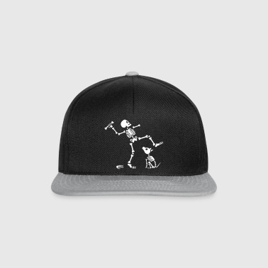 Go fetch bone dog skeleton arm - Gorra Snapback