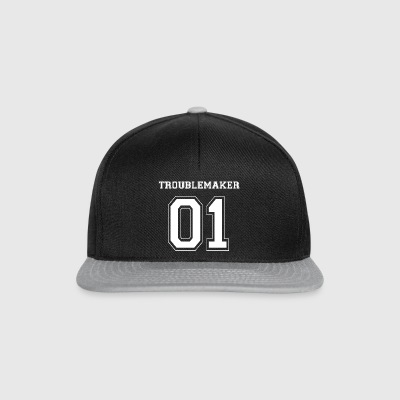 TROUBLEMAKER 01 - White Edition - Snapback Cap