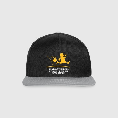 When A Bomb Squads Running, Follow Him! - Snapback Cap