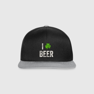 I Love Beer St. Patricks Day t-shirt gave - Snapback Cap