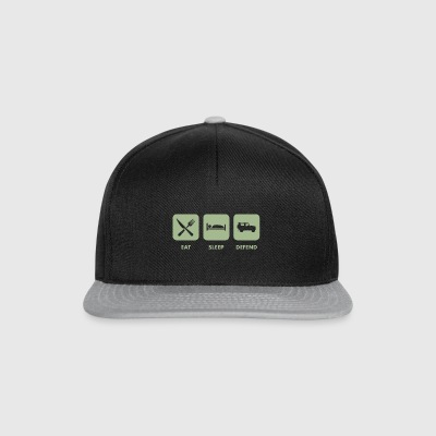 Eat, Sleep & Forsvar - Snapback-caps