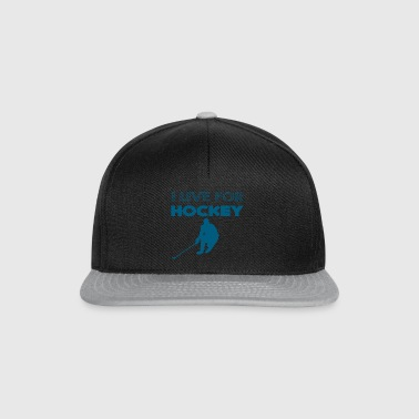 Hockey: I live for hockey - Snapback Cap