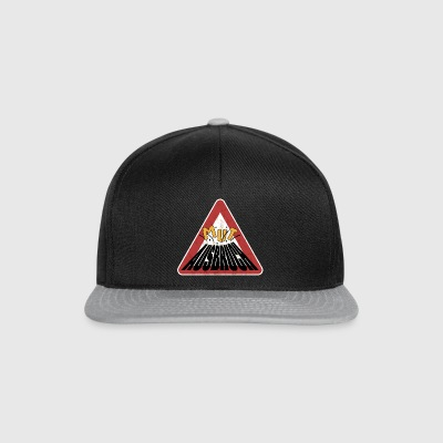 Caution rusty shield courage erupting volcano - Snapback Cap