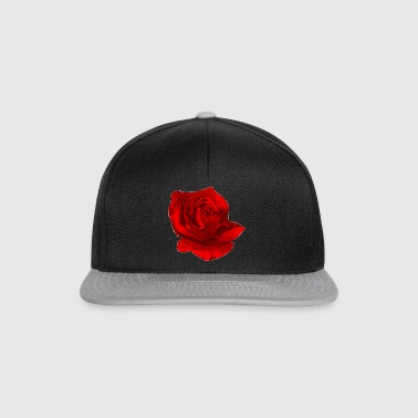 Rote Rose Blume cool Natur Geschenk - Casquette snapback