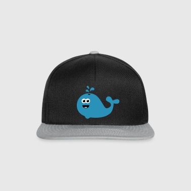 Happy Cartoon Whale - Snapback Cap