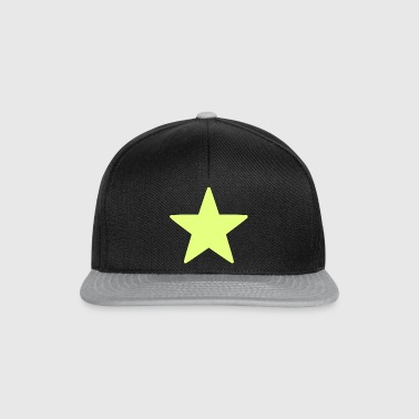 Star / Star / Yellow / Bright / Sun. - Snapback Cap