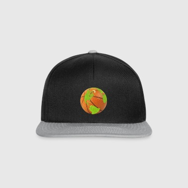 basketball planet earth globe earth globe - Snapback Cap