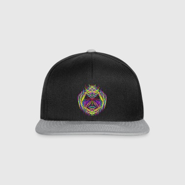 face trippy abstract psychedelic colorful - Snapback Cap