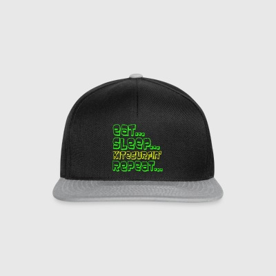 Eat Sleep KITESURF REPEAT - Snapback Cap