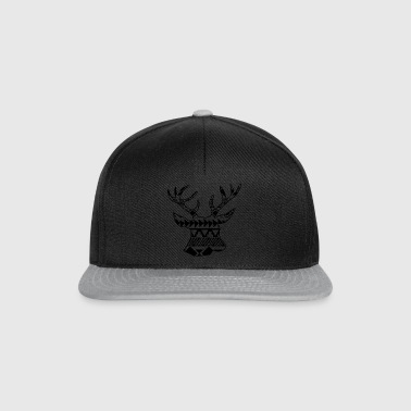 Native Deer black - Snapback Cap