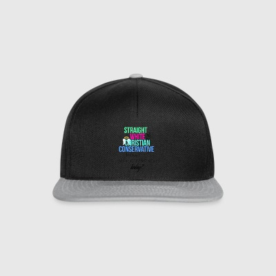 Straight White Christian Conservative - Snapback Cap
