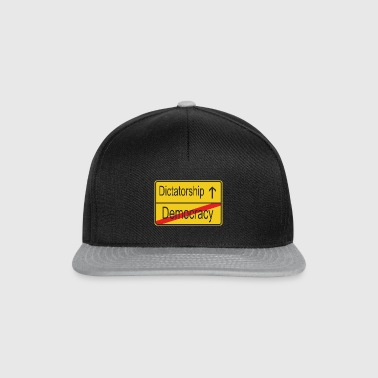 Leaving Democracy entering Dictatorship - Snapback Cap