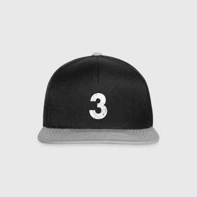 Zahl 3, Nummer 3, 3, three, Number three, Drei - Snapback Cap
