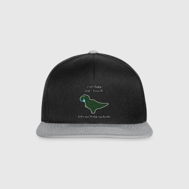 Sad Dinosaur T-Rex sad and happy - Snapback Cap