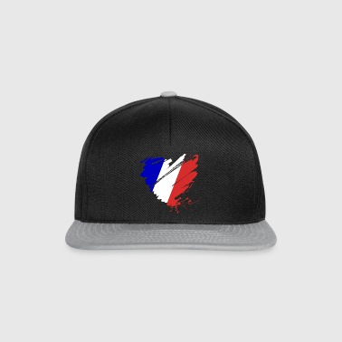 Heart Cœur France France Grande Nation Red wine - Snapback Cap